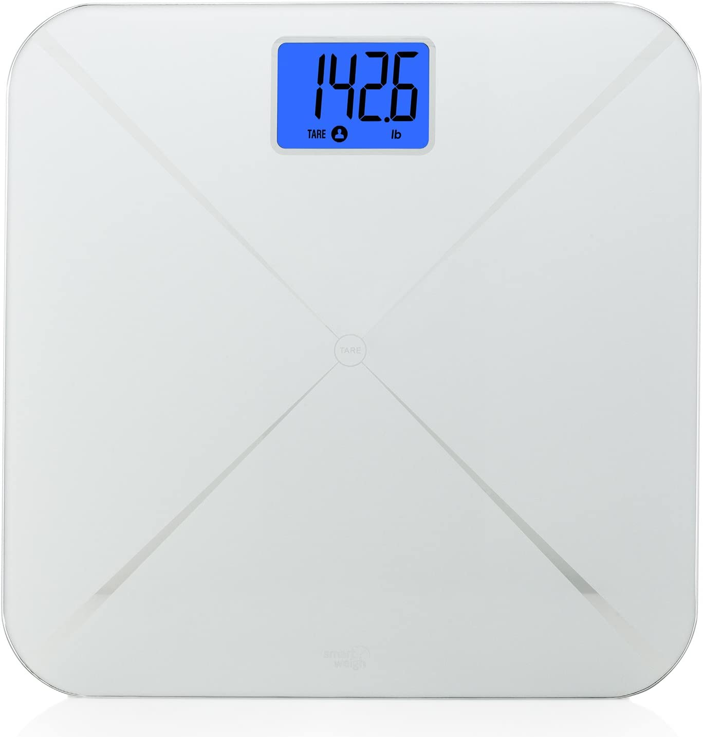 Smart Weigh Báscula de baño Digital Inteligente con Pantalla LCD ...