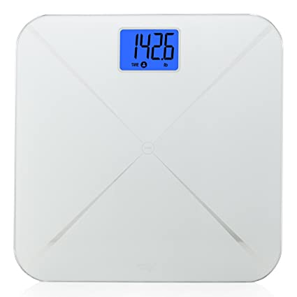 b1c36e7268c Smart Weigh Smart Digital Body Weight Bathroom Scale with Baby or Pet Tare  Weighing Technology