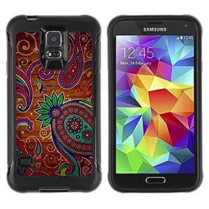 Suave TPU GEL Carcasa Funda Silicona Blando Estuche Caso de protección (para) Samsung Galaxy S5 V / CECELL Phone case / / Henna Tattoo Colorful Colors Flowers /