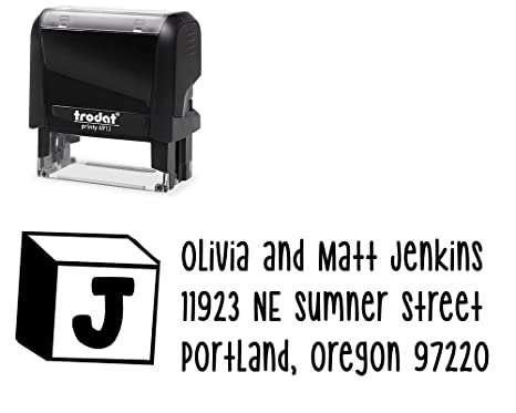 amazon com self inking custom stamp variety of designs and choose