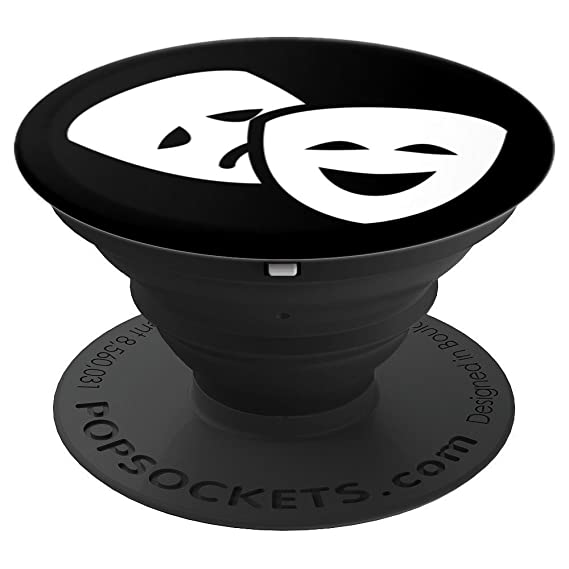 Love Theatre - Musical Theatre Fan Broadway Thespian Gift - PopSockets Grip and Stand for Phones