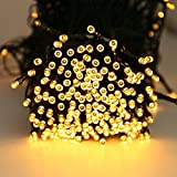 LED String Light Quntis 300 LEDs 40M Warm White Waterproof 8 Multi-Function Indoor Battery Operated String Fairy Lights Ideal for Garden Outdoor Camping Wedding Christmas Tree Birthday Party Valentine's Day - Warm White