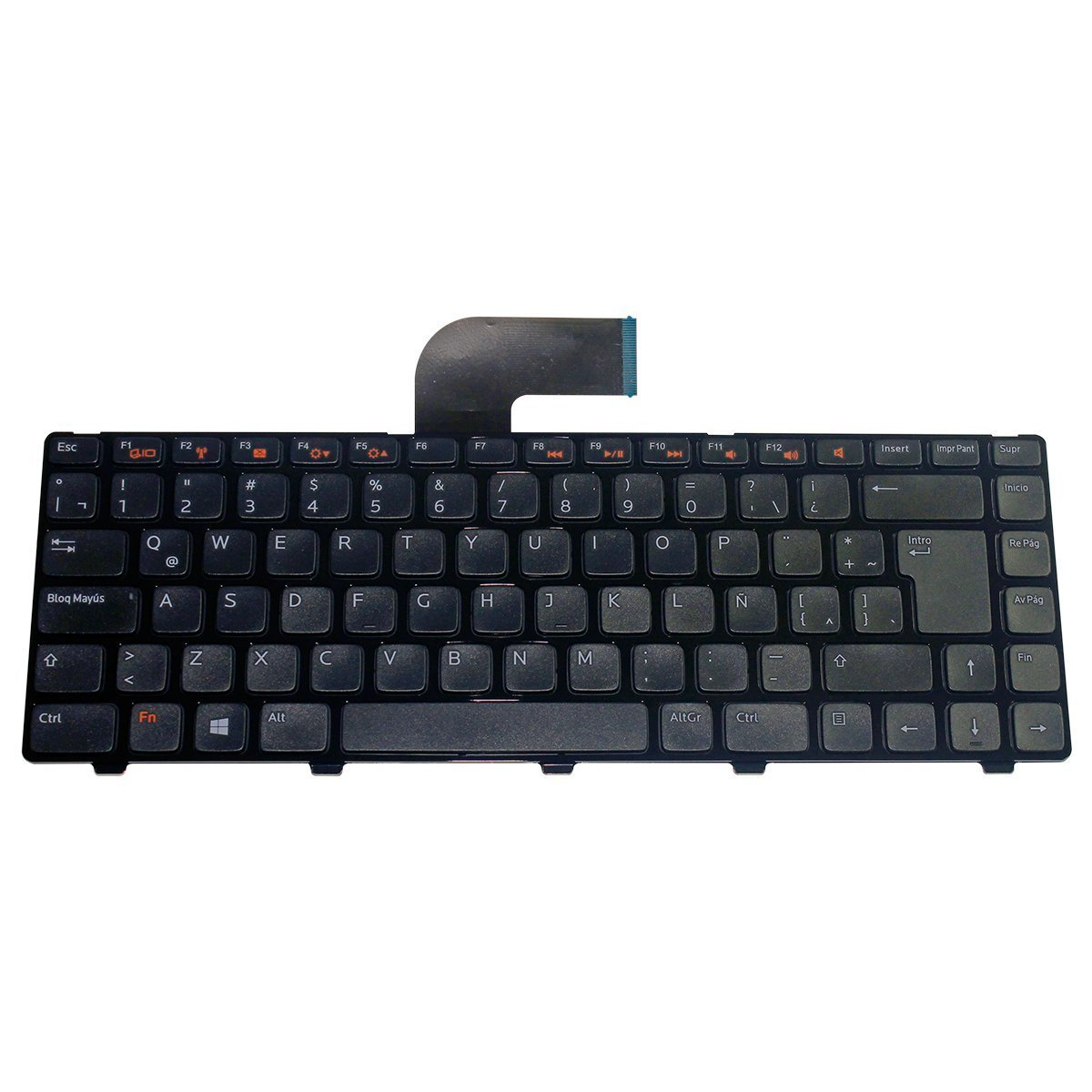 1 Year Warranty LaptopKing Replacement Keyboard for Dell Inspiron 17R N7010 Series Laptop Compatible Part Number 8V8RT 08V8RT AEZE6700110 9Z.N3E82.B1D V104025CS Black US Layout