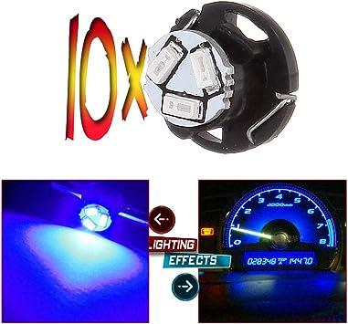 cciyu 4 Pack Blue T3 LED Neo Wedge A//C Climate Control Light Bulb Lamp blue
