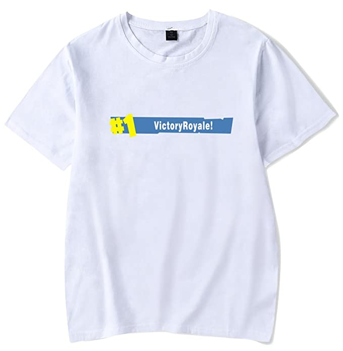 SERAPHY Unisex Camiseta No.1 Victory Battle Royale Fortnite Figuras Camiseta para Niños y Adultos qvotA