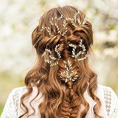 Maxdot 10 Pack Bridal Wedding Hair Pins Artificial Pearl Hair Clips Hair Accessories for Women and Girls
