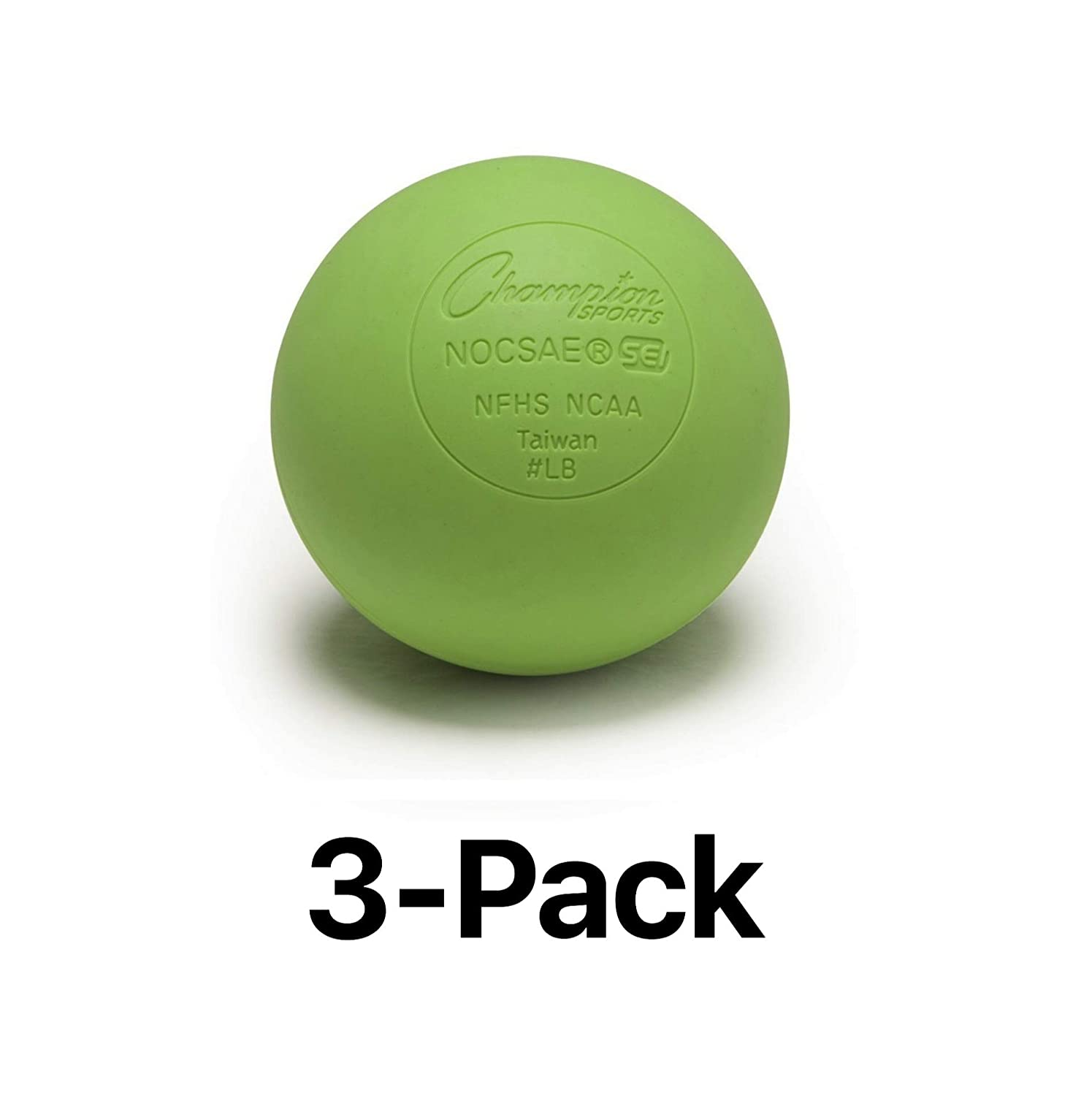 Champion Lacrosse Ball Official NFHS NCAA Massage Therapy-GREEN (3-Pack) Champion Sports