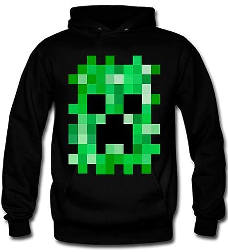 Sudadera Minecraft de Creeper pixelado (Con capucha) (L) (TODAS LAS TALLAS