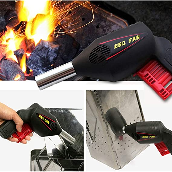 SODIAL Outdoor Portable Electric Blower Barbecue Hair Dryer Fire Tool