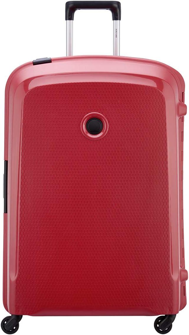 Delsey Belfort 3 - Maleta con 4 Ruedas (82 cm), Rojo (Rojo) - 3843830-04