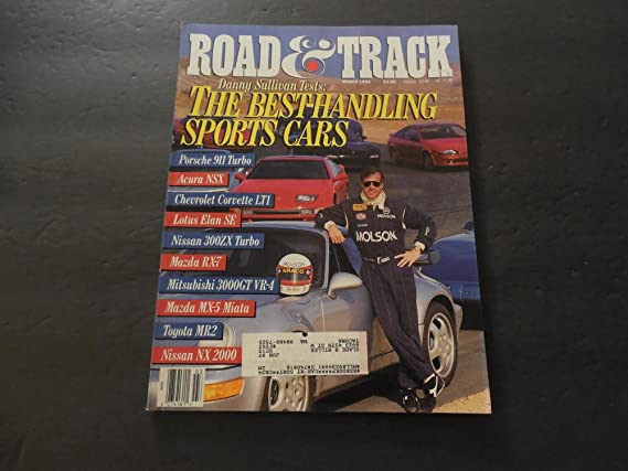 Road Track Mar 1992 Porsche 911 Turbo; Lotus Elan; 3000GT; MX-5 at Amazons Entertainment Collectibles Store