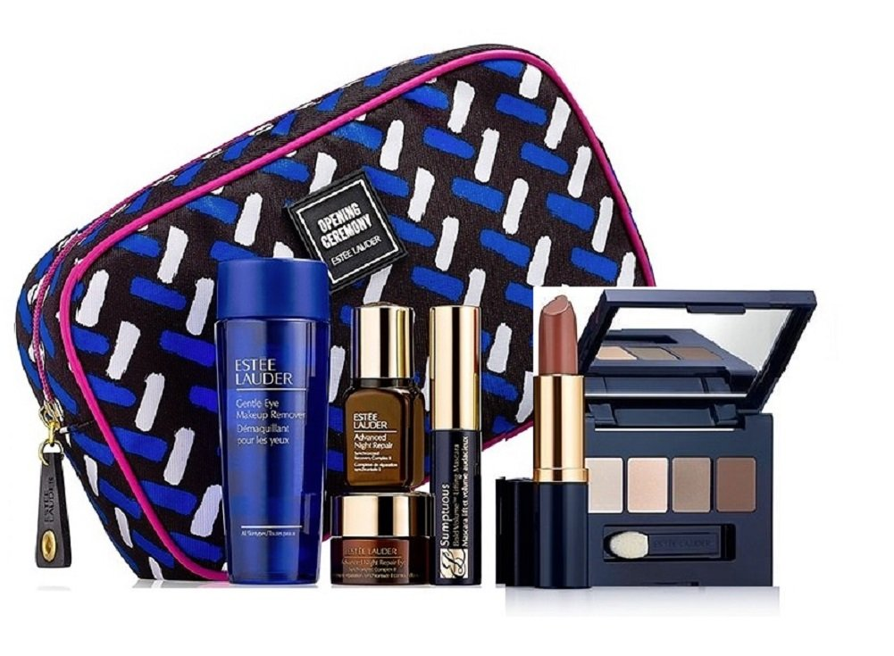 Amazon.com : Estee Lauder Skincare and Makeup 7pc Gift Set Subtle ...