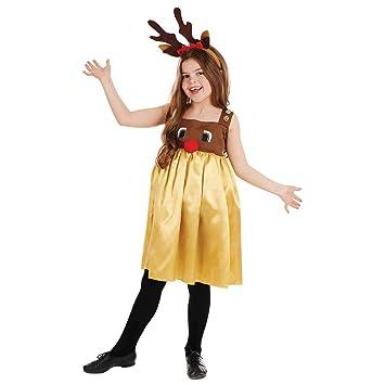 Fun Shack Oro Reno Disfraz para Niñas - M: Amazon.es: Juguetes y ...