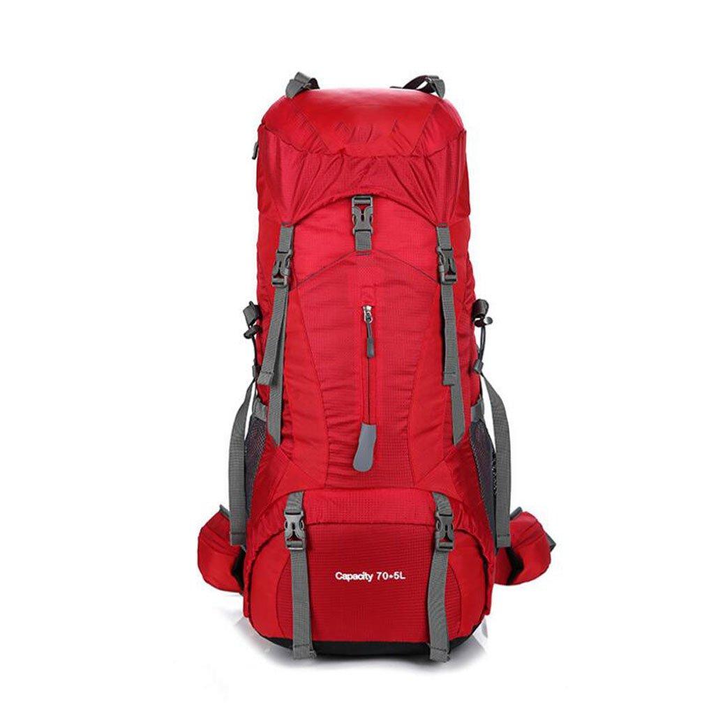男性と女性 プロフェッショナル 登山用バッグ アウトドア キャンプ ショルダーバッグ 大容量 カジュアル ファッションバッグ 75L Size レッド B07HGY9SJH