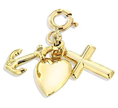 Carissima gold 9ct yellow gold faith hope and charity charm carissima gold 9ct yellow gold faith hope and charity charm aloadofball Choice Image
