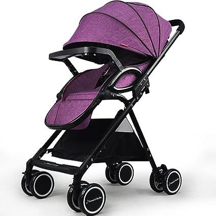 Hapair Cochecito de bebé Ligero Fácil de Llevar Recién Nacidos Puede Sentarse reclinable Plegable Niños bebé
