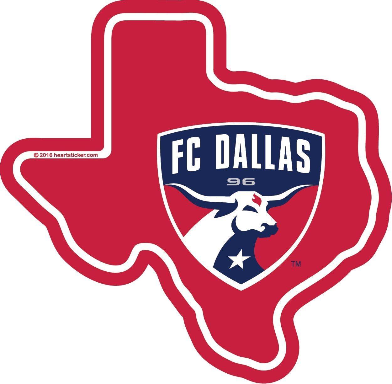 FC Dallas Texas Sticker | TX Shaped Label Texas| Apply to Mug Phone Laptop Water Bottle Decal Cooler Bumper | Rocket Cowboy Texan Mavs Ranger Astro Lone Star Spur Deep Heart MLS Soccer