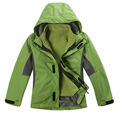 9028689b7 Amazon.com  LJYH Big Boy s Winter Outdoor Hooded Rain Jacket ...