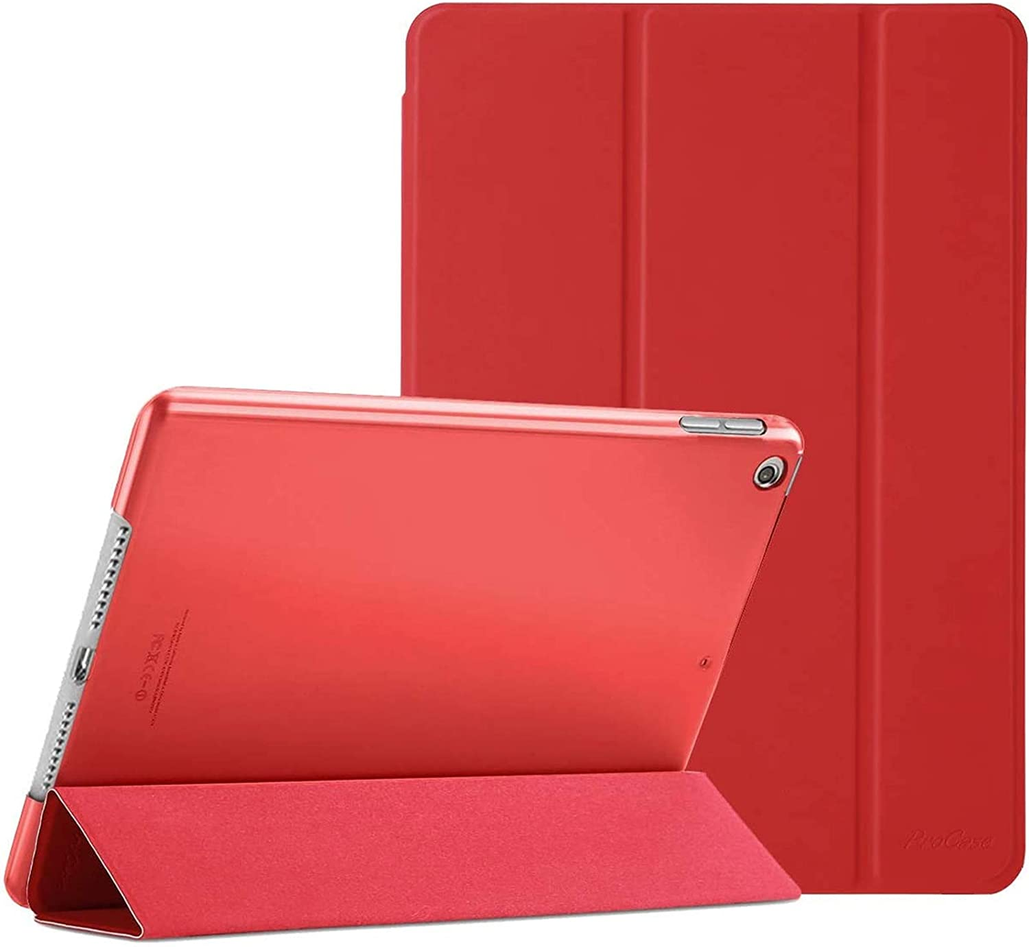 "ProCase iPad 10.2 Case 2020 iPad 8th Generation Case / 2019 iPad 7th Generation Case, Slim Stand Hard Back Shell Protective Smart Cover for 10.2"" iPad 8 / iPad 7 -Red"