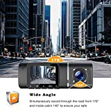 TOGUARD Dual Dash Cam with IR Night Vision, FHD
