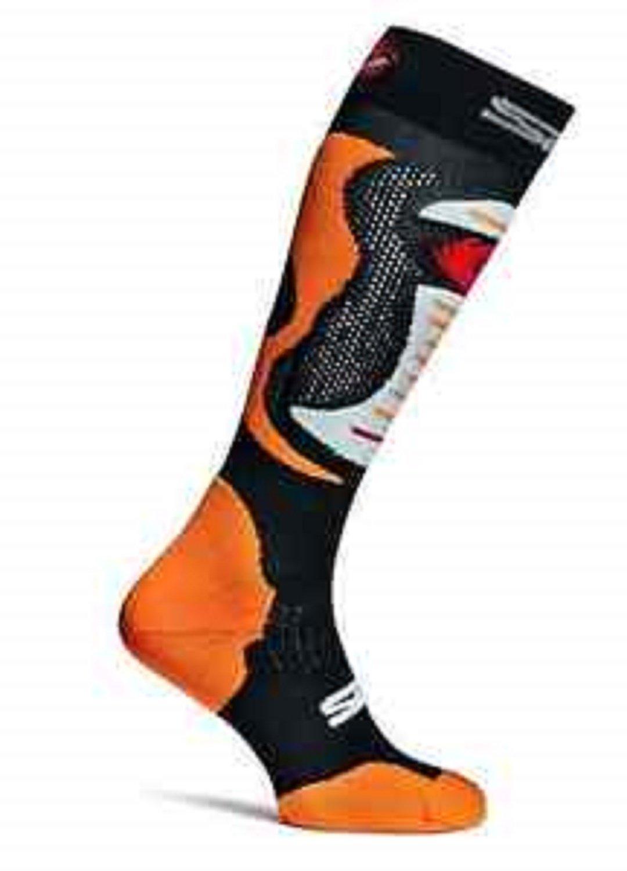 Sidi MX Socks Faenza Fluorescent Orange Size SM