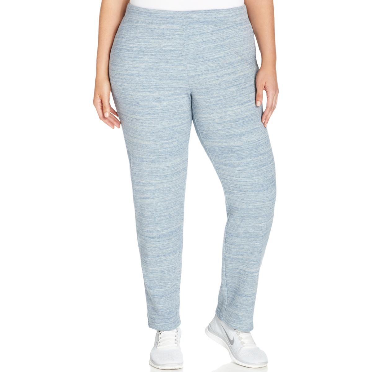 Style & Co.. Womens Plus French Terry Loose Fit Sweatpants Blue 3X