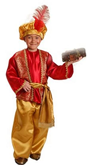 Disfraz de Paje Real Rojo para Niño