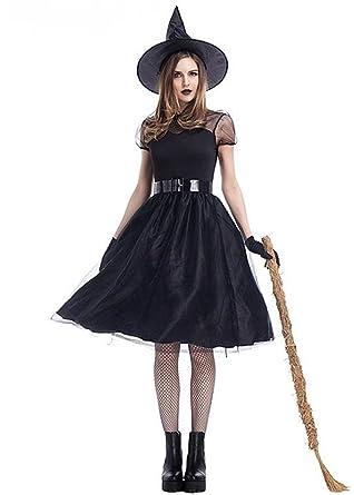 Amazon Zqy Womens Halloween Costume Vintage Lace Dress Black
