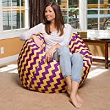 Chevron design, cotton canvas comfort research printed bean bag cover Size XXL by Aart Store