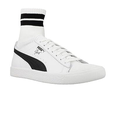 Puma Chaussures de Skateboard pour Homme White Black White