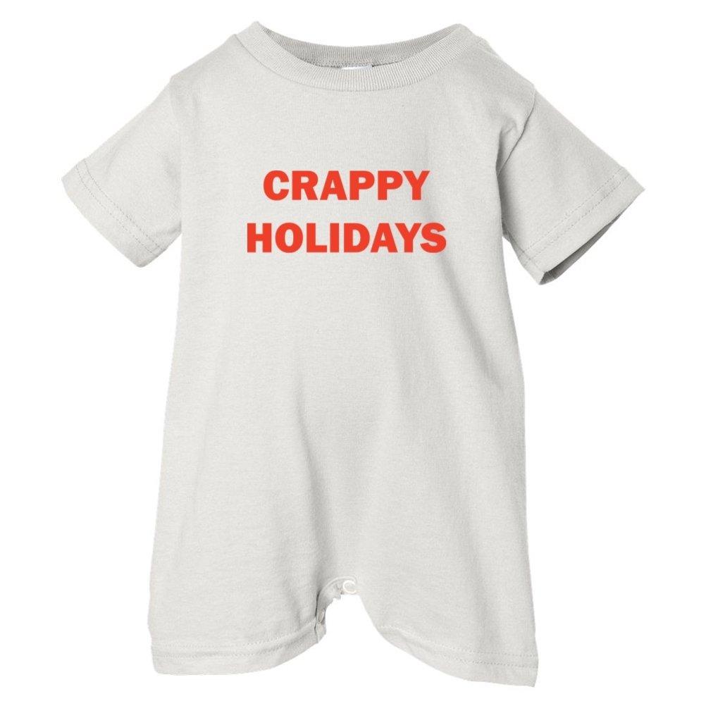 Festive Threads Unisex Baby Crappy Holidays T-Shirt Romper