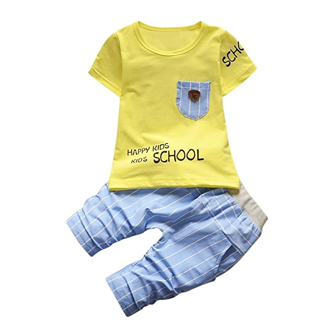 Camisa Bebé Niño K-youth® Conjunto Bebe Niño Ropa Recién Nacidos Bebe Niño Ropa. Pasa ...
