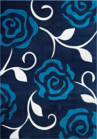 Amazoncom Ladole Rugs Turkish Rose Floral Pattern Innovative