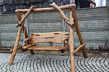 Dondolo Da Giardino Prezzi : Luxus pur ug rustico a dondolo da giardino in legno massiccio