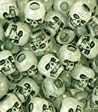 Glow in the Dark Skull Beads for Crafting and Paracord - 10 Pack