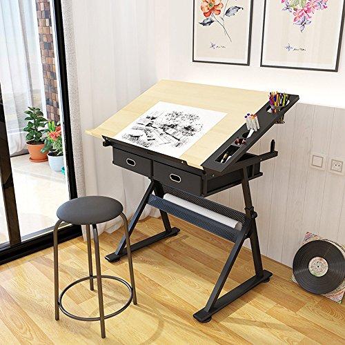 WJP Folding Table/Rotating Lift Down/Angle Adjustment/Painting Table/Writing Desk/Multi-Function Table