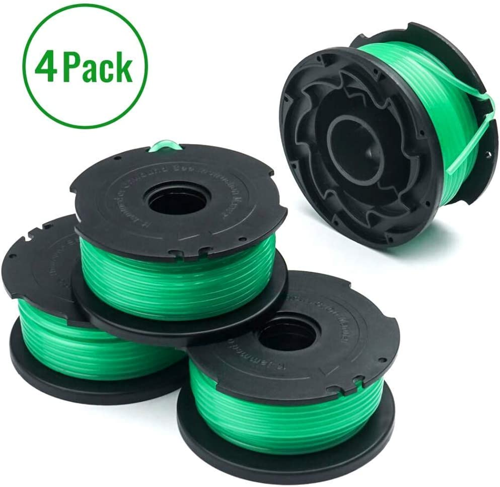 """ANDNOVA Trimmer Spools Compatible with Black Decker GH3000 LST540 SF-080 Weed Eater 20ft 0.080"""" GH3000R LST540B Edger Refills Line Auto-Feed Single Line Parts Trimmers Line Cord (4 pcs)"""