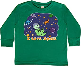 inktastic I Love Space Cute Dinos and Planets Baby T-Shirt