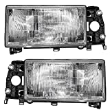 1990 volvo 740 headlight lens - Driver and Passenger Headlights Headlamps Replacement for Volvo 13696034 13696042