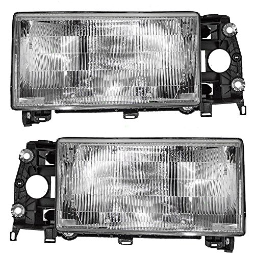 Driver and Passenger Headlights Headlamps Replacement for Volvo 13696034 13696042 ()