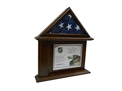 Amazon.com : Flag & Certificate Display Case & Name Plate : Sports ...