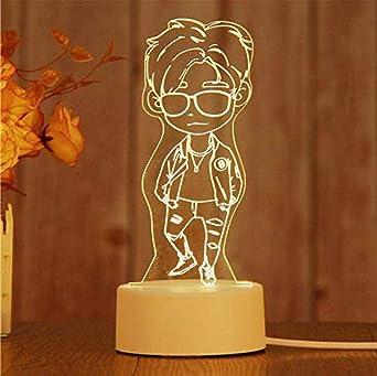 Luces de noche LED 3D Moon Bear Heart Owl Mesa Escritorio Luz de ...