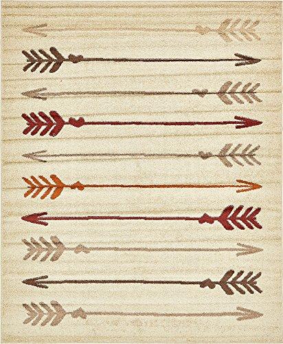 Unique Loom Autumn Collection Modern Arrows Warm Toned Beige Area Rug (8' 0 x 10' 0)