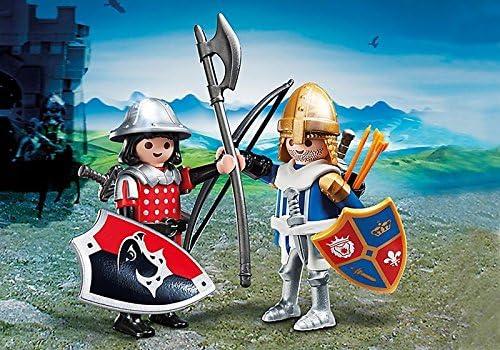 Playmobil # 5166 caballeros Duo Pack Set Nuevo. HN # GG _ 634t6344 g134548ty8836: Amazon.es: Juguetes y juegos