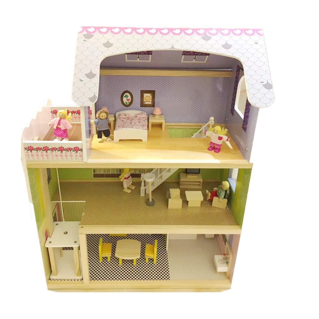 Muebles para muñecas Fashion Muñeca de los niños Bloques de Juguete de Villa Rompecabezas de la habitación de los niños Juguetes de ensamblaje niño y niña ent