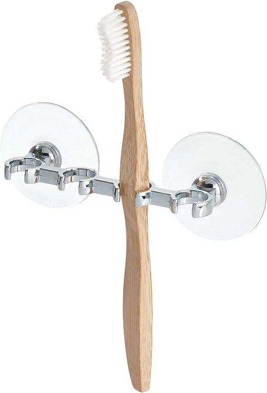iDesign Portacepillos de dientes, pequeño soporte para cepillos de ...
