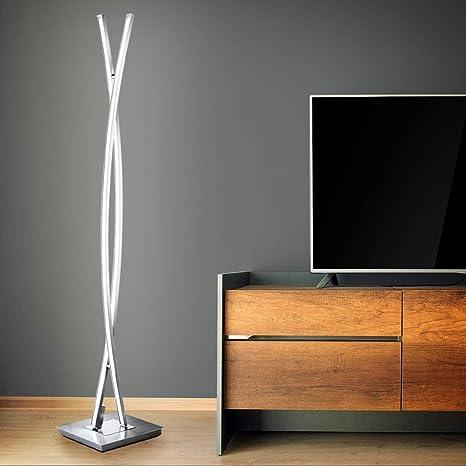 Briloner Leuchten - Lámpara LED de pie con interruptor de ...