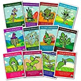 Organic Culinary Herb Seeds (12 pack) – Thyme, Chives, Cilantro, Summer Savory, Sage, Dill Bouquet, Garlic Chives, Italian Parsley, Mustard Leaves, Oregano, Sweet Marjoram, Sweet Basil - by Zziggysgal