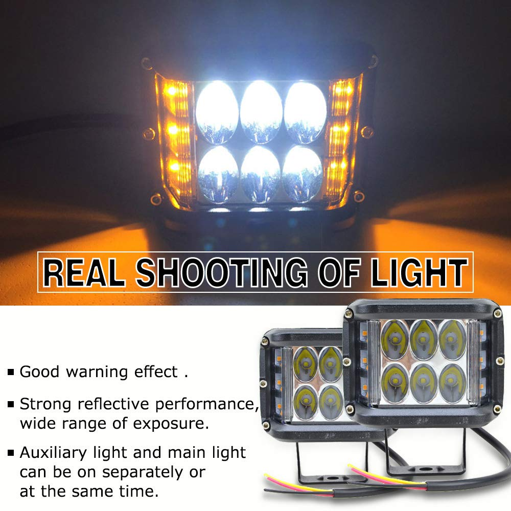 6000K 1PCS One-year warranty Kayue LED 36W Explosive-flashing Warning Rear Light Spotlight for Motorcycles motor bicycle Off-road 4x4 Jeep SUV Bus Truck Trailer Forklift
