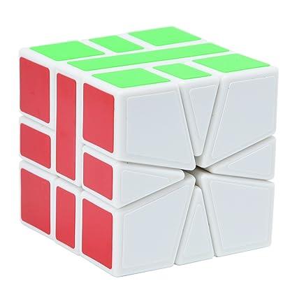 Maomaoyu Square One Cube Square 1 Magico Cubo de la Velocidad Blanco